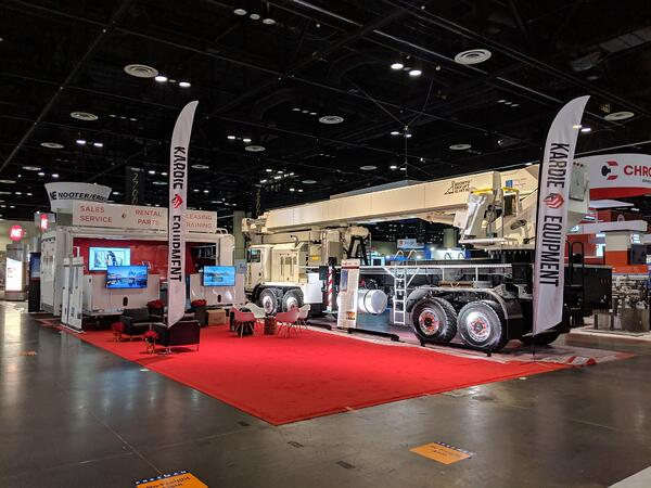 Powergen booth setup